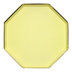 Piatti di carta color giallo