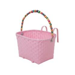 Cesto rosa per bimbi con manico