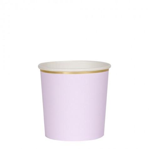Bicchieri di carta color lilla