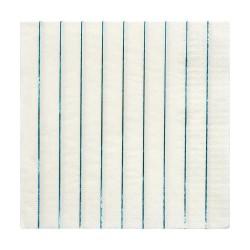 Tovaglioli di carta a righe blu olografico