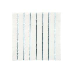 Tovagliolini di carta a righe blu olografiche