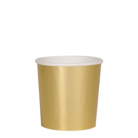 Bicchieri di carta color oro