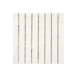 Tovagliolini di carta a righe dorate