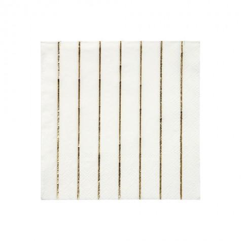 Tovagliolini di carta a righe oro