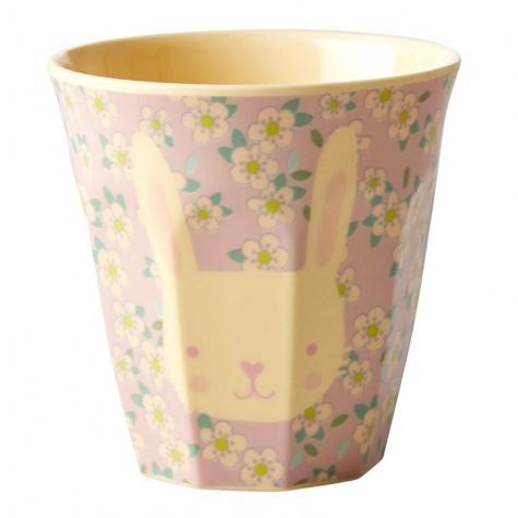 Bicchiere piccolo in melamina fantasia coniglietto