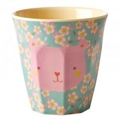 Bicchiere piccolo in melamina fantasia orsetto rosa