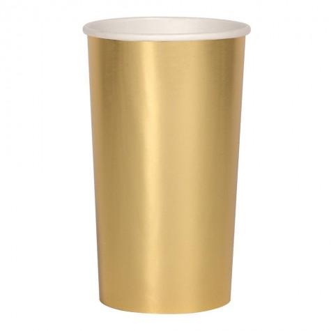 Bicchieri alti di carta color oro