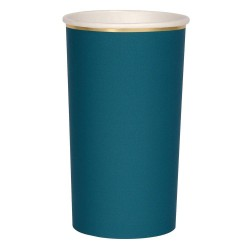 Bicchieroni di carta verde acqua scuro