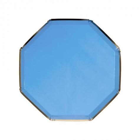 Piattini di carta color blu