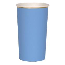 Bicchieri alti di carta color blu