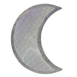 Piatti di carta scintillanti a forma di luna