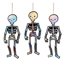 Decorazioni pendenti a forma di scheletro