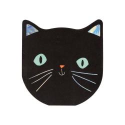 Tovagliolini a forma di gatto nero