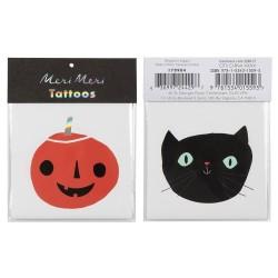 Tatuaggi di Halloween - Gatto e zucca