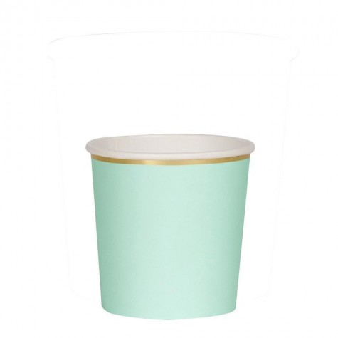 Bicchieri di carta color menta