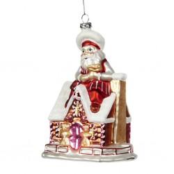 Decorazione natalizia - Babbo Natale su casetta di pandizenzero
