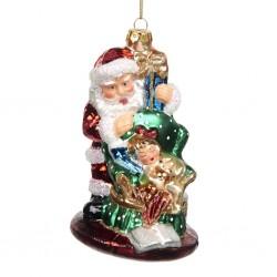 Decorazione natalizia - Babbo Natale con bambina