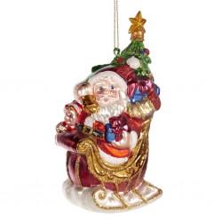Decorazione natalizia - Babbo Natale sulla slitta