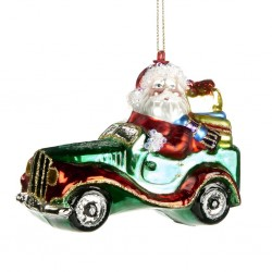 Decorazione natalizia - Babbo Natale in macchina