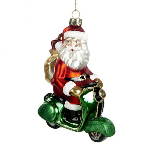 Decorazione natalizia - Babbo Natale in moto
