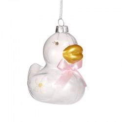 Decorazione natalizia - paperella bianca