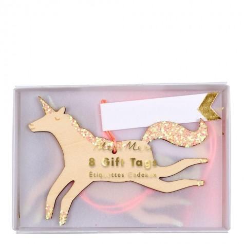 Etichette segnapacchi Unicorno
