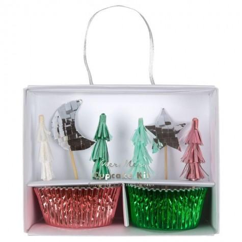 Pirottini e decorazioni per cupcakes natalizi