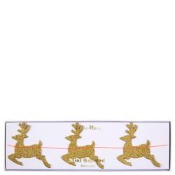 Ghirlanda natalizia con mini renne glitter