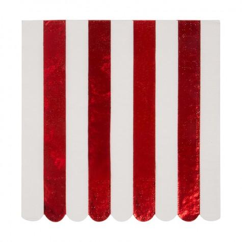 Tovaglioli di carta a righe rosse