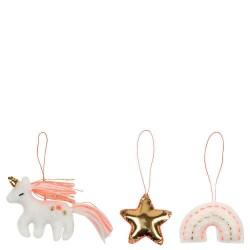 Mini decorazioni natalizie in feltro