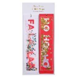 Etichette regalo natalizie Ho Ho Ho e Fa La La