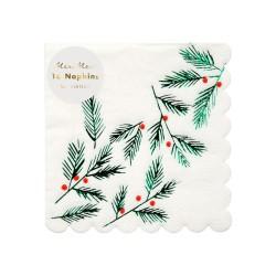 Tovagliolini natalizi fantasia bacche