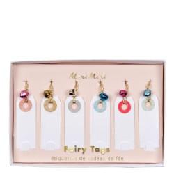 Etichette segnapacco natalizie con bubbolo