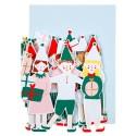 Biglietto di auguri natalizi con elfi