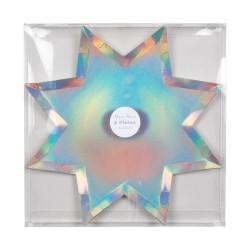 Piatti di carta a forma di stella a otto punte
