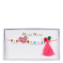 Braccialetto natalizio I Love Xmas