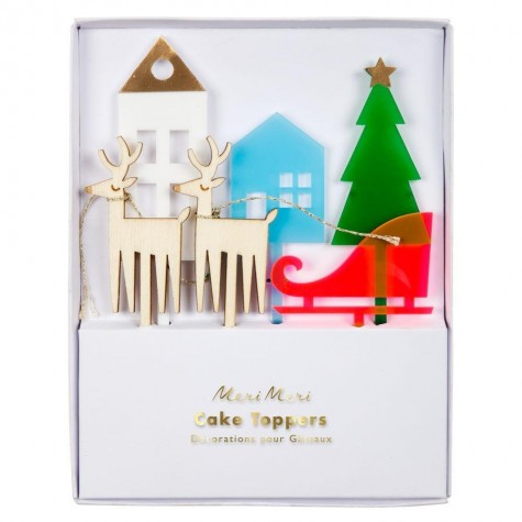 Decorazioni natalizie per torte