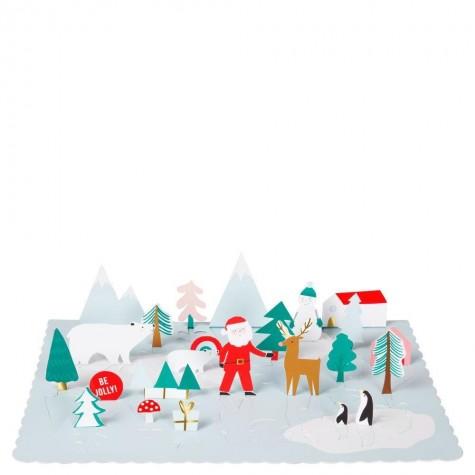Calendario Dell'Avvento con Babbo Natale