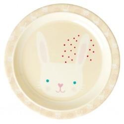 Piatto piano bimbo con fantasia coniglietto