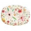 Piatto ovale con fantasia floreale