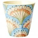 Bicchiere in melamina con fantasia ventaglio fiorito