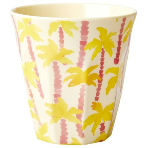 Bicchiere in melamina con fantasia palme