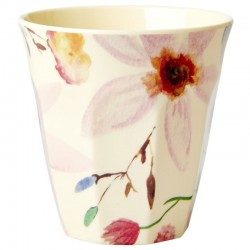Bicchiere in melamina con fantasia floreale