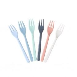 Set di forchette da dolce multicolor