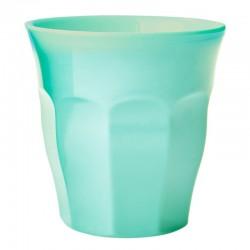 Bicchiere in melamina verde acqua