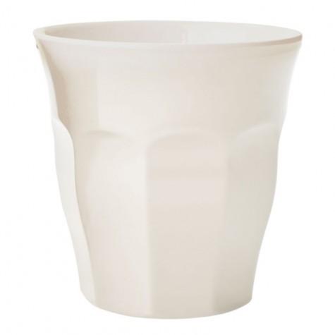 Bicchiere in melamina tinta unita bianca