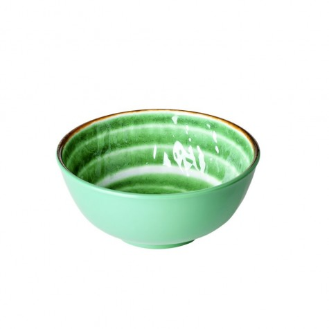 Tazza da colazione verde con fantasia vortice