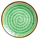 Piatto frutta con fantasia vortice verde