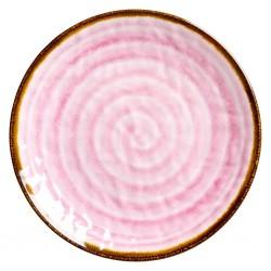 Piatto frutta con fantasia vortice rosa