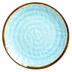 Piatto frutta con fantasia vortice azzurro